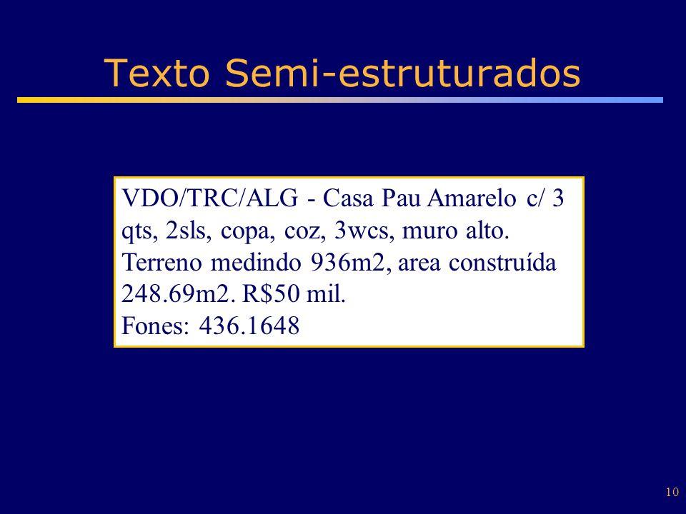 Texto Semi-estruturados