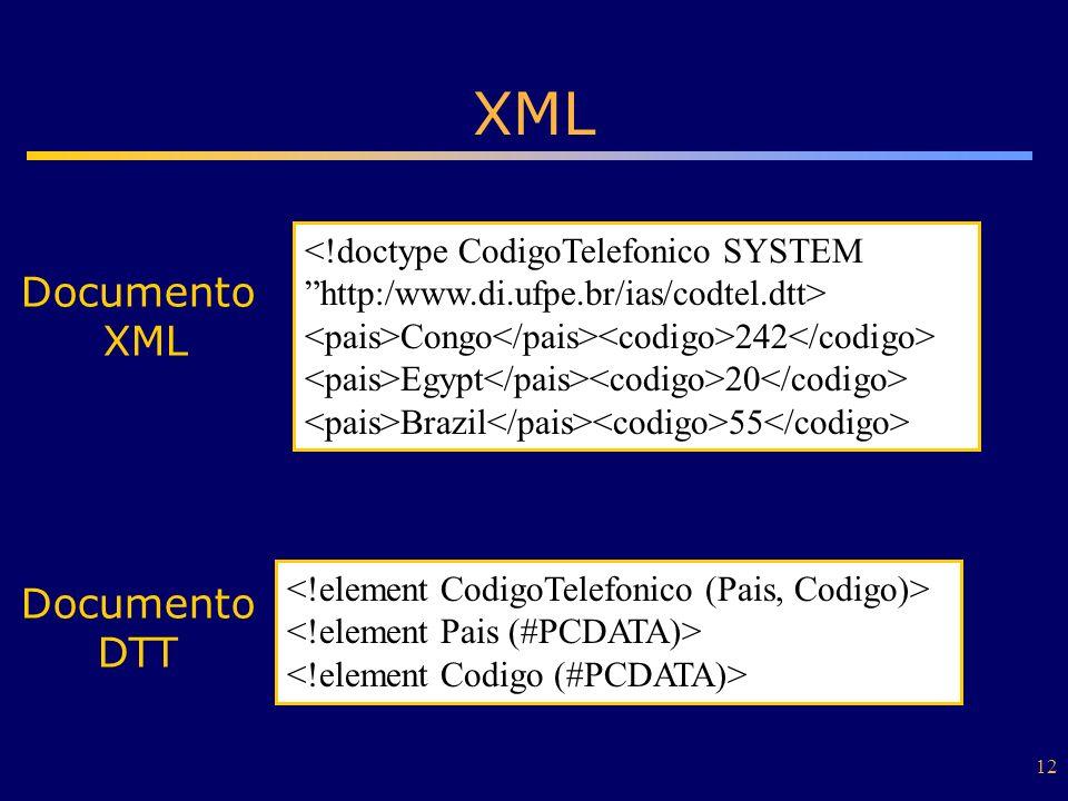 XML Documento XML Documento DTT