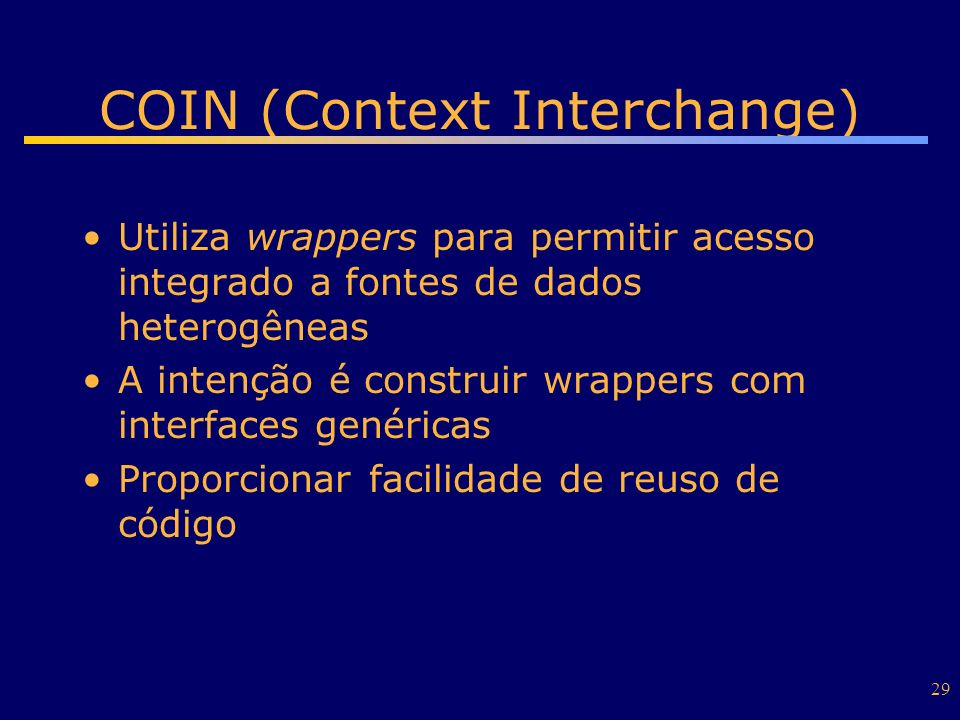 COIN (Context Interchange)