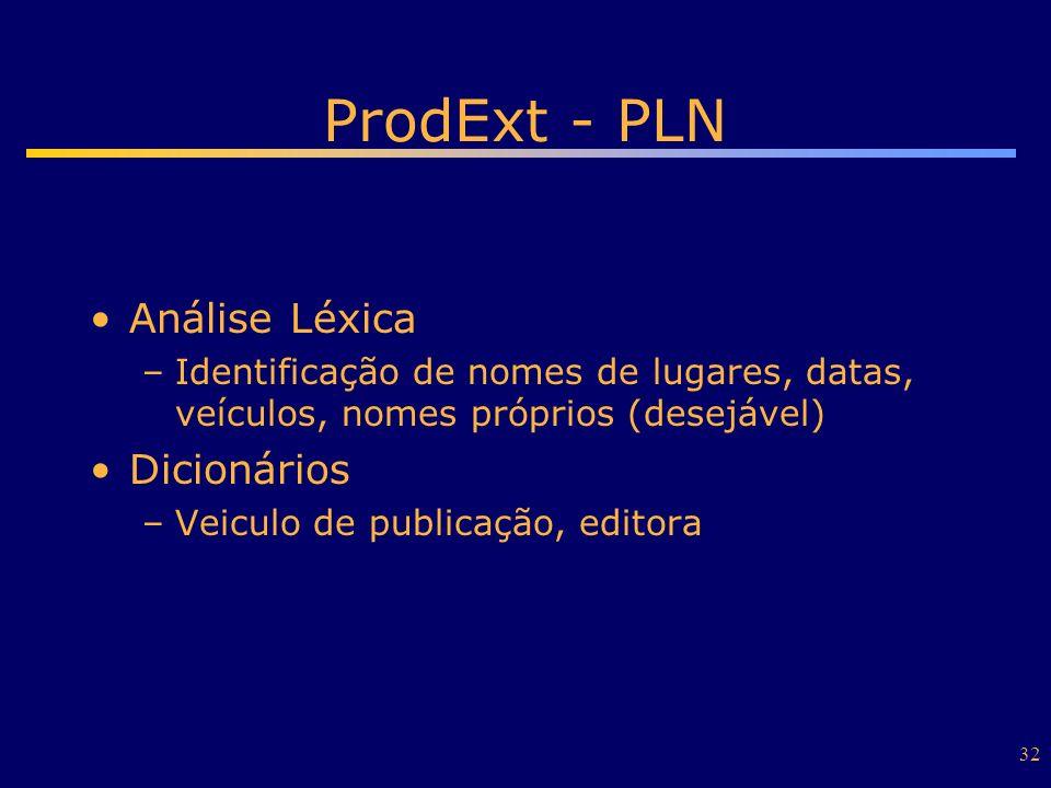 ProdExt - PLN Análise Léxica Dicionários