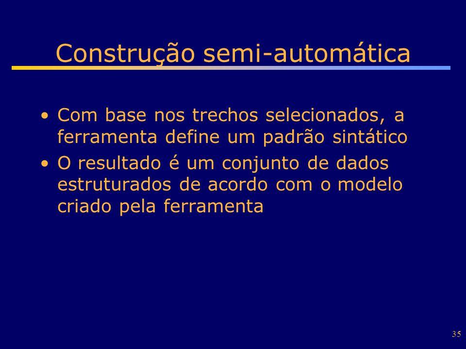 Construção semi-automática