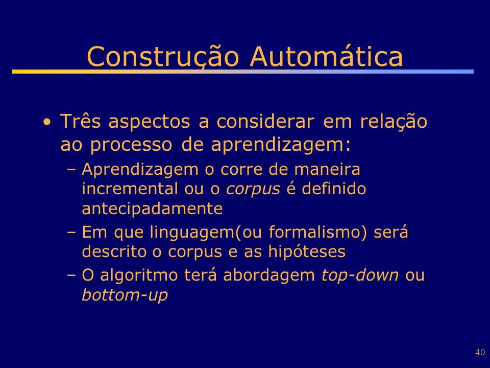 Construção Automática