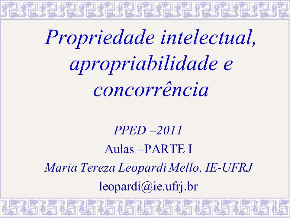 Propriedade intelectual, apropriabilidade e concorrência