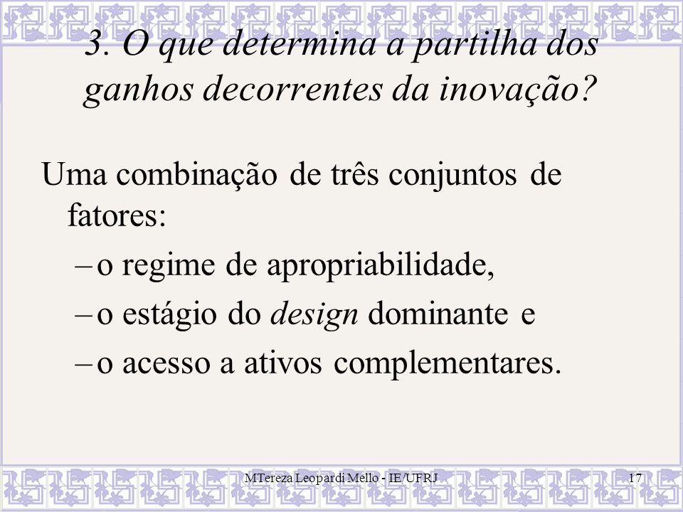 3. O que determina a partilha dos ganhos decorrentes da inovação