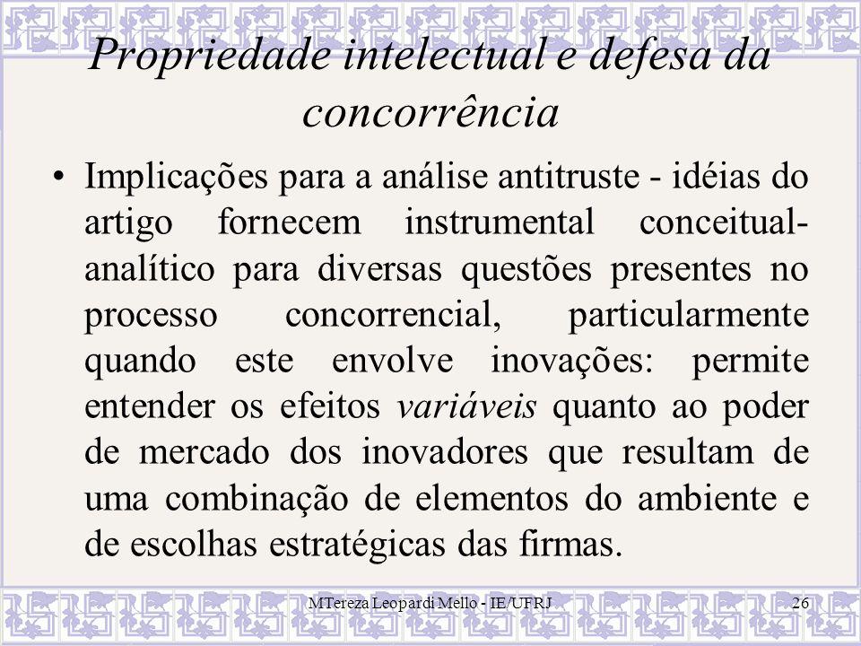 Propriedade intelectual e defesa da concorrência