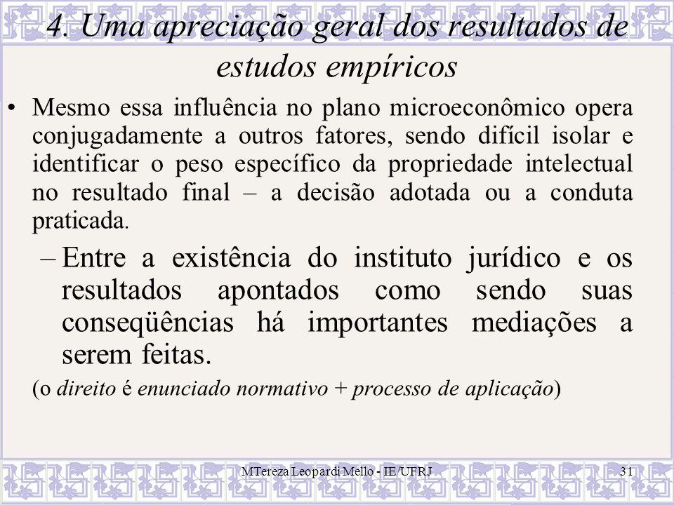 4. Uma apreciação geral dos resultados de estudos empíricos