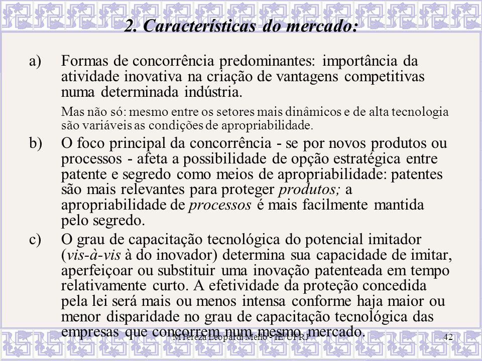 2. Características do mercado: