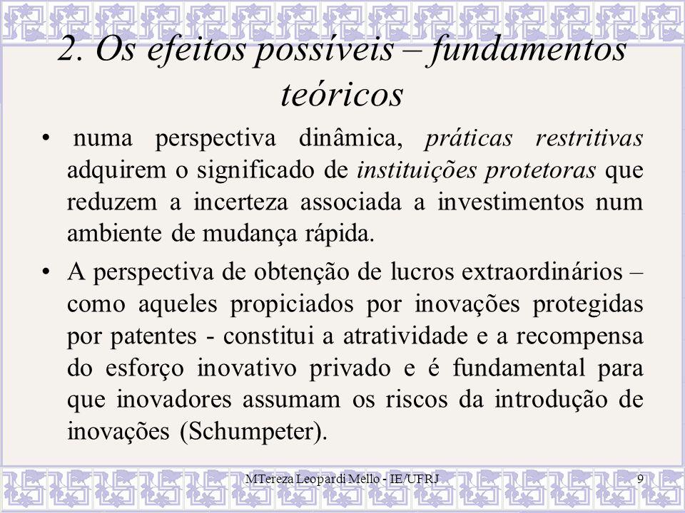 2. Os efeitos possíveis – fundamentos teóricos