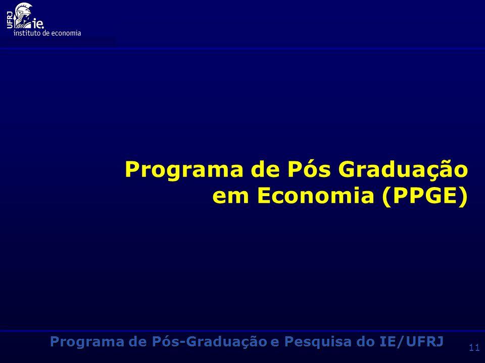 Programa de Pós Graduação em Economia (PPGE)