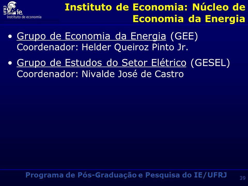 Instituto de Economia: Núcleo de Economia da Energia