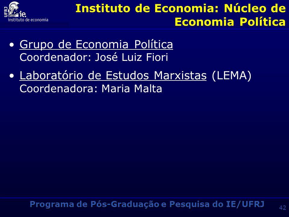 Instituto de Economia: Núcleo de Economia Política