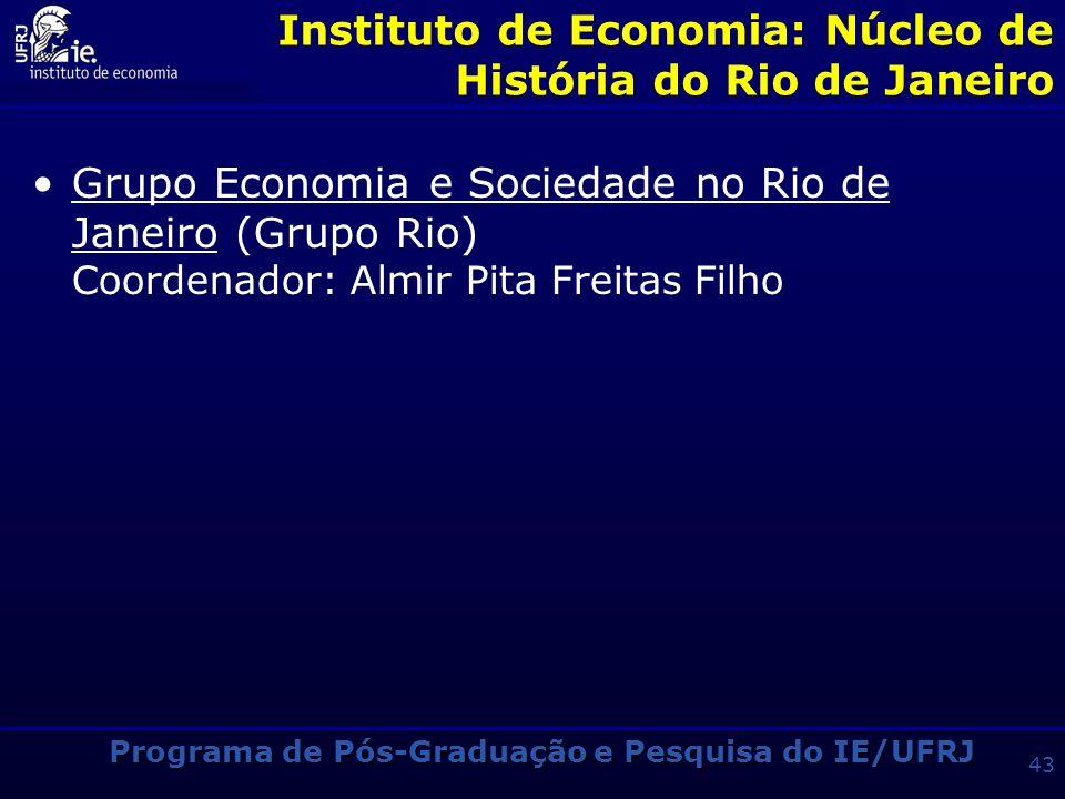 Instituto de Economia: Núcleo de História do Rio de Janeiro