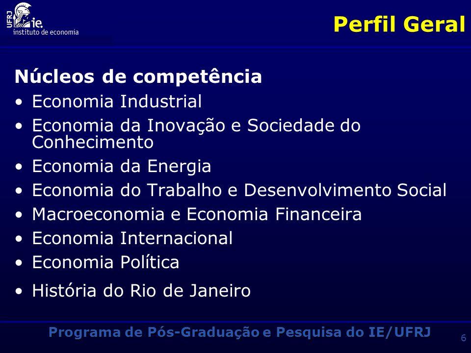 Programa de Pós-Graduação e Pesquisa do IE/UFRJ