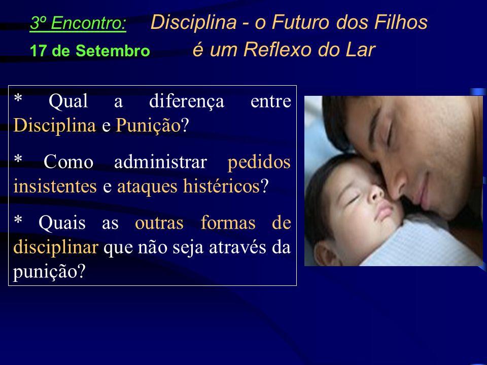 * Qual a diferença entre Disciplina e Punição