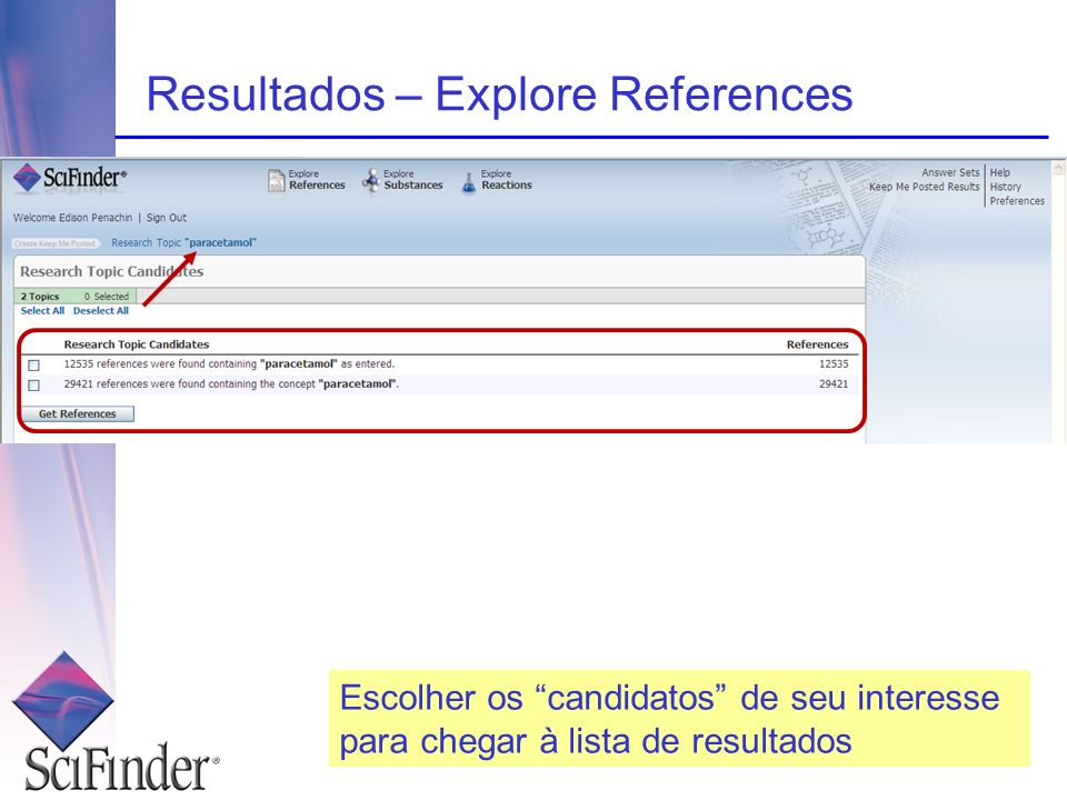 Resultados – Explore References