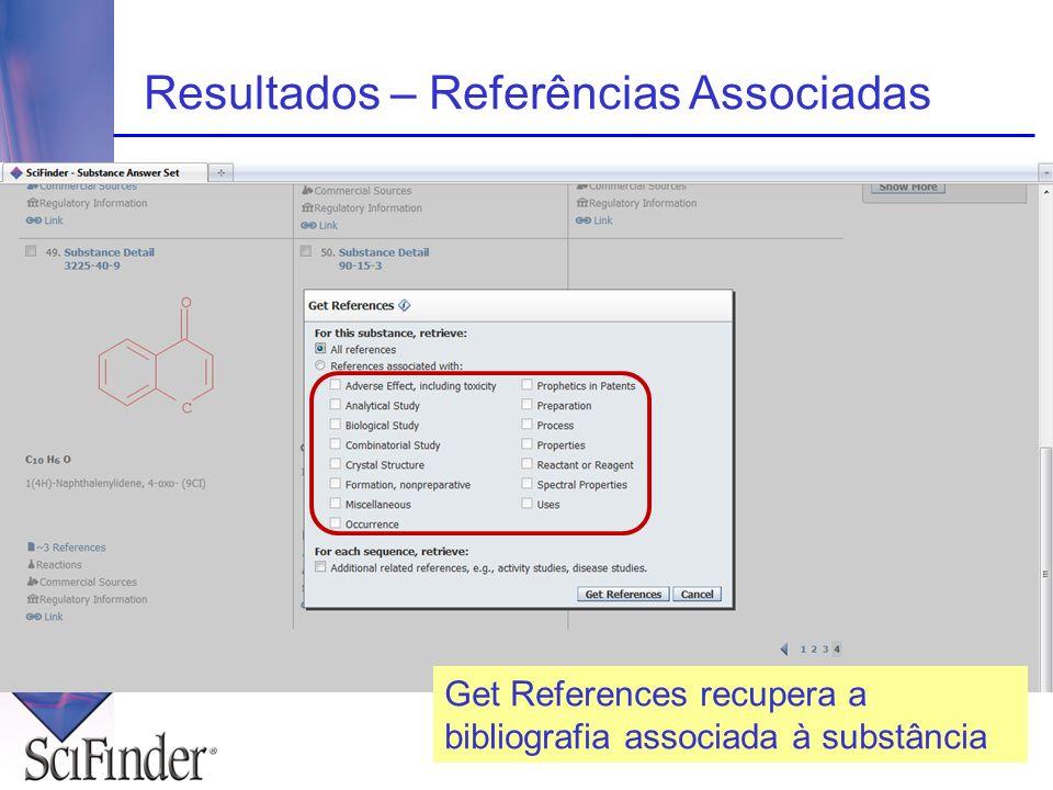 Resultados – Referências Associadas