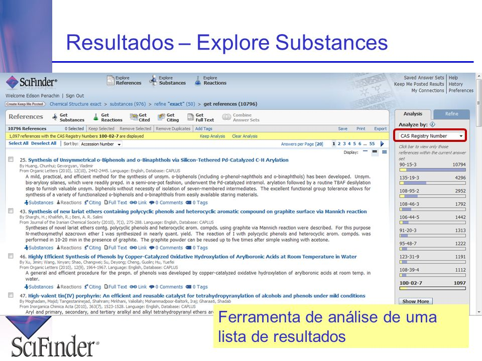 Resultados – Explore Substances
