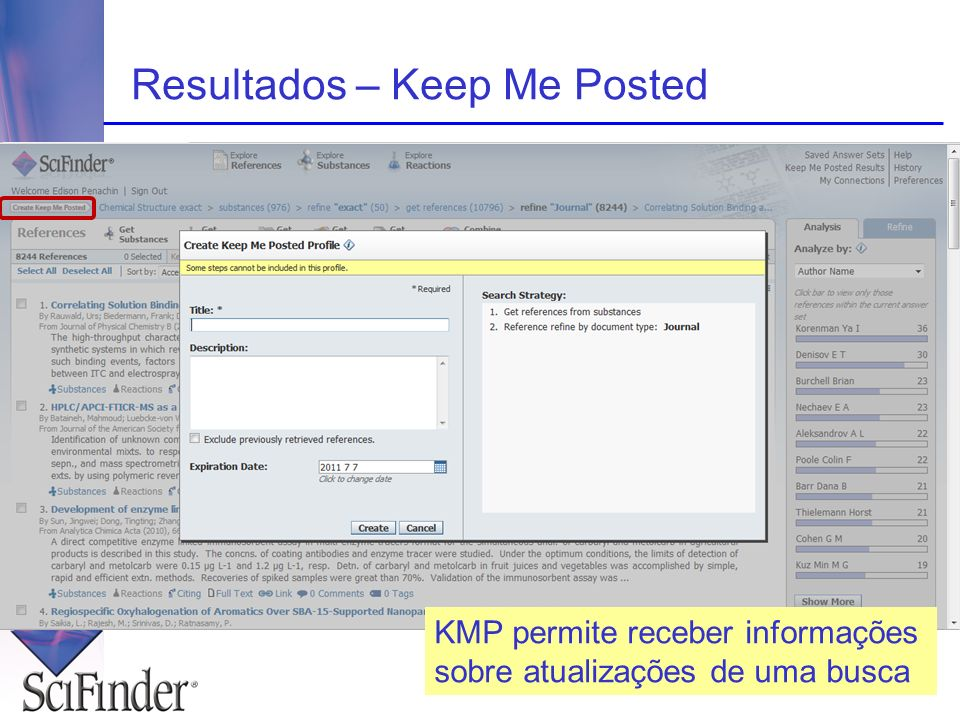 Resultados – Keep Me Posted