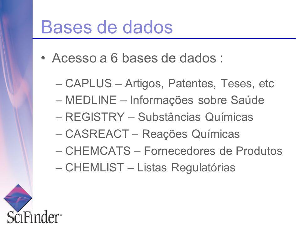 Bases de dados Acesso a 6 bases de dados :