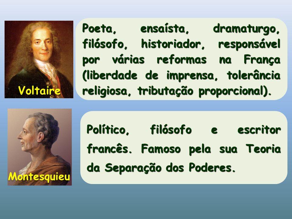 Poeta, ensaísta, dramaturgo, filósofo, historiador, responsável por várias reformas na França (liberdade de imprensa, tolerância religiosa, tributação proporcional).