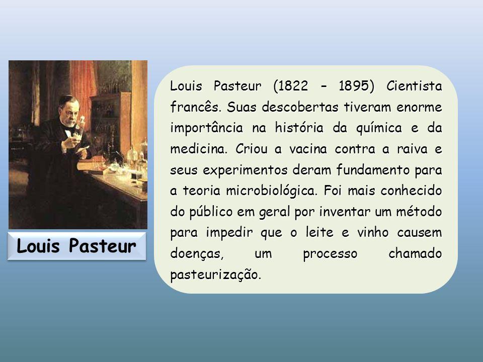 Louis Pasteur (1822 – 1895) Cientista francês