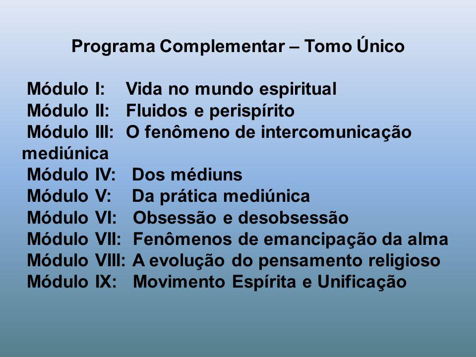 Programa Complementar – Tomo Único