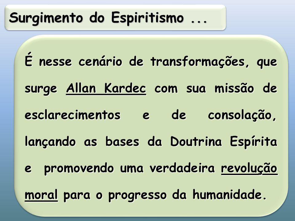 Surgimento do Espiritismo ...