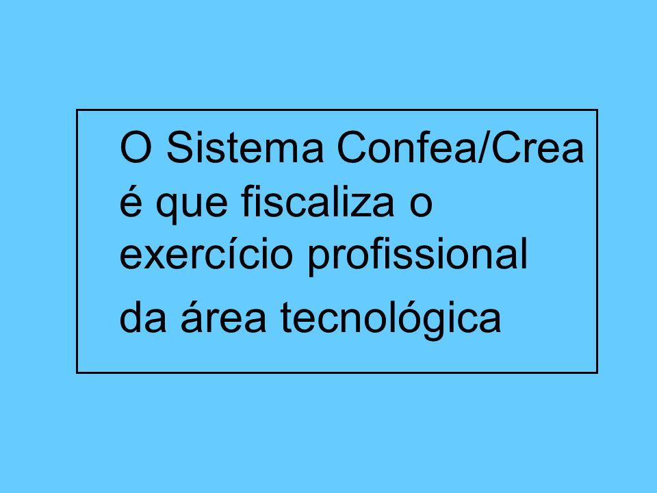 O Sistema Confea/Crea é que fiscaliza o exercício profissional
