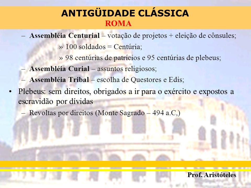 Assembléia Centurial – votação de projetos + eleição de cônsules;