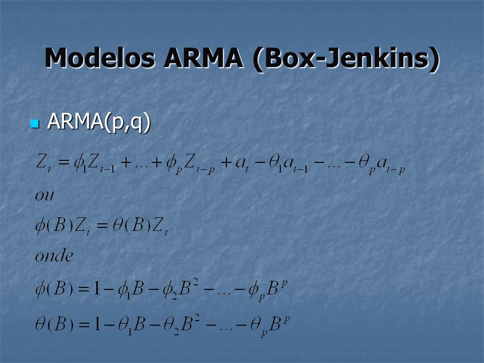 Modelos ARMA (Box-Jenkins)