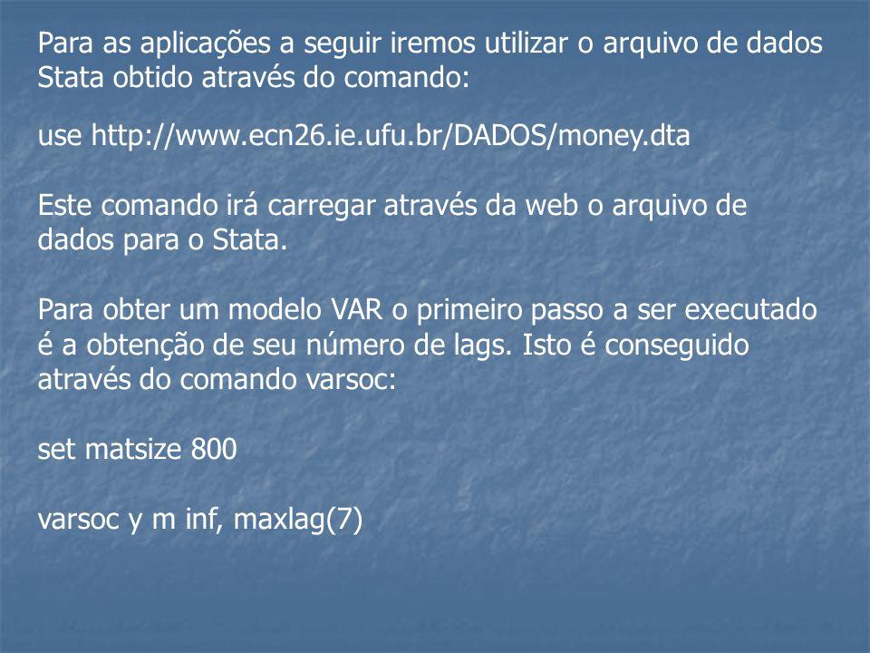 Para as aplicações a seguir iremos utilizar o arquivo de dados Stata obtido através do comando: