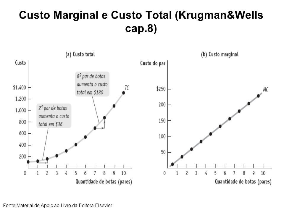 Custo Marginal e Custo Total (Krugman&Wells cap.8)