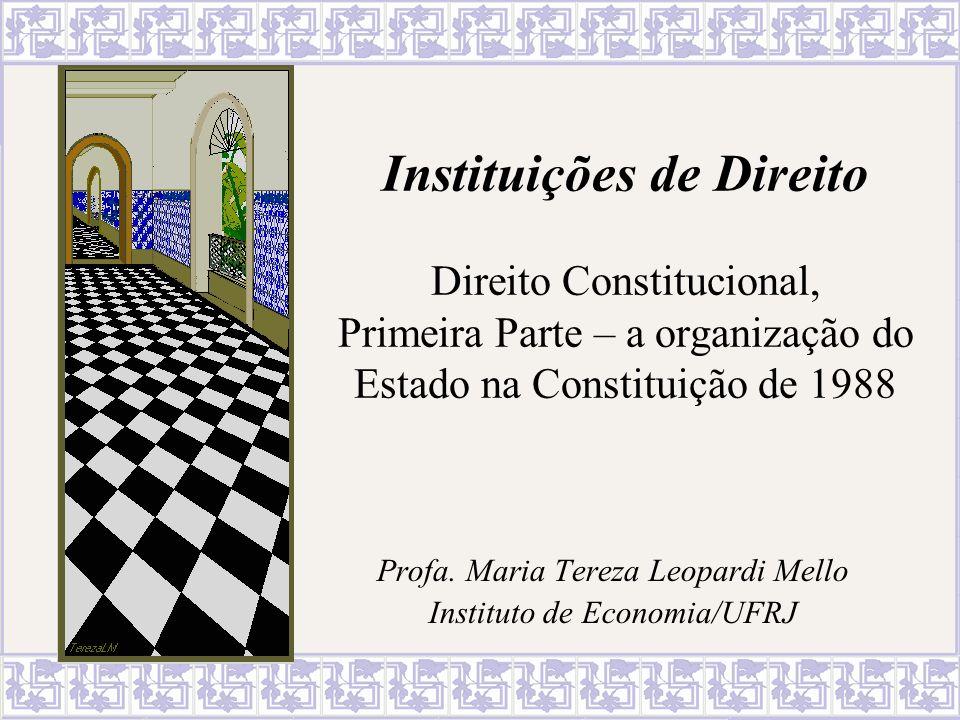 Profa. Maria Tereza Leopardi Mello Instituto de Economia/UFRJ