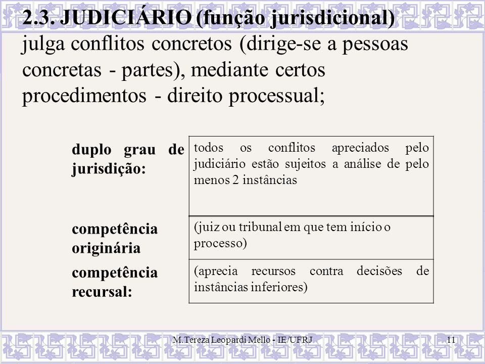M.Tereza Leopardi Mello - IE/UFRJ