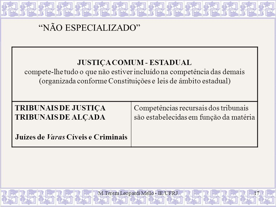 Juízes de Varas Cíveis e Criminais