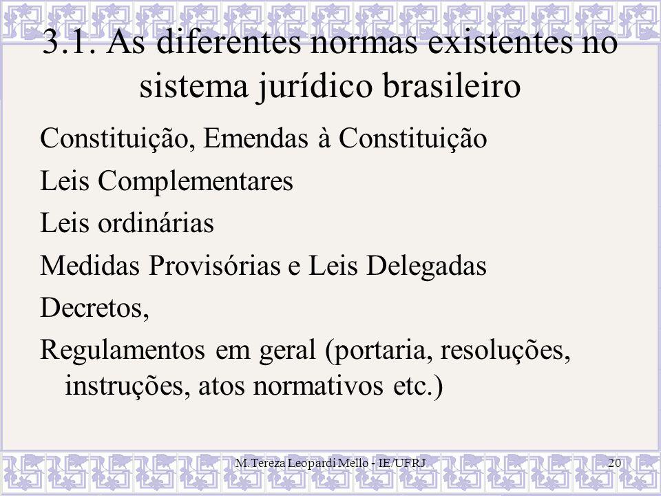 3.1. As diferentes normas existentes no sistema jurídico brasileiro