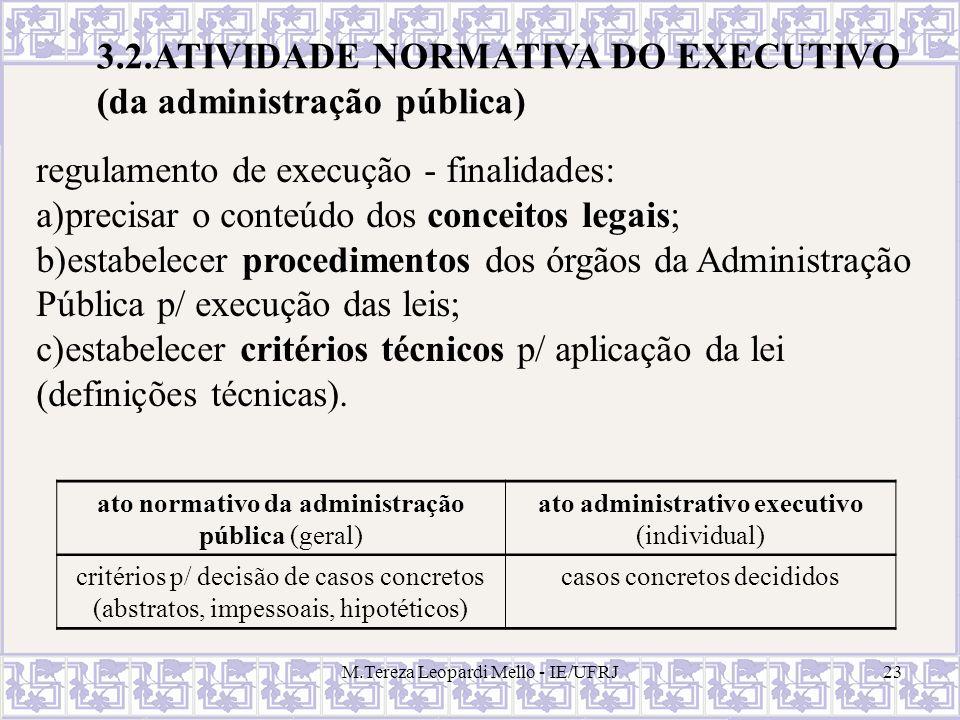 3.2.ATIVIDADE NORMATIVA DO EXECUTIVO (da administração pública)