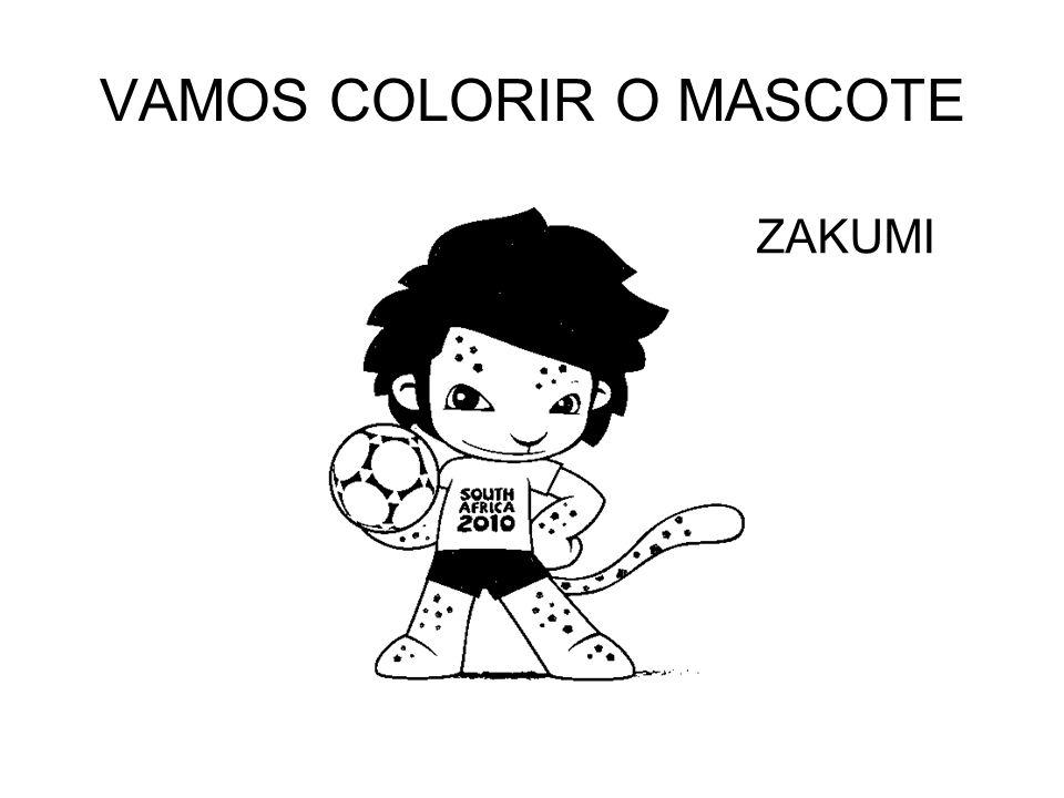 VAMOS COLORIR O MASCOTE