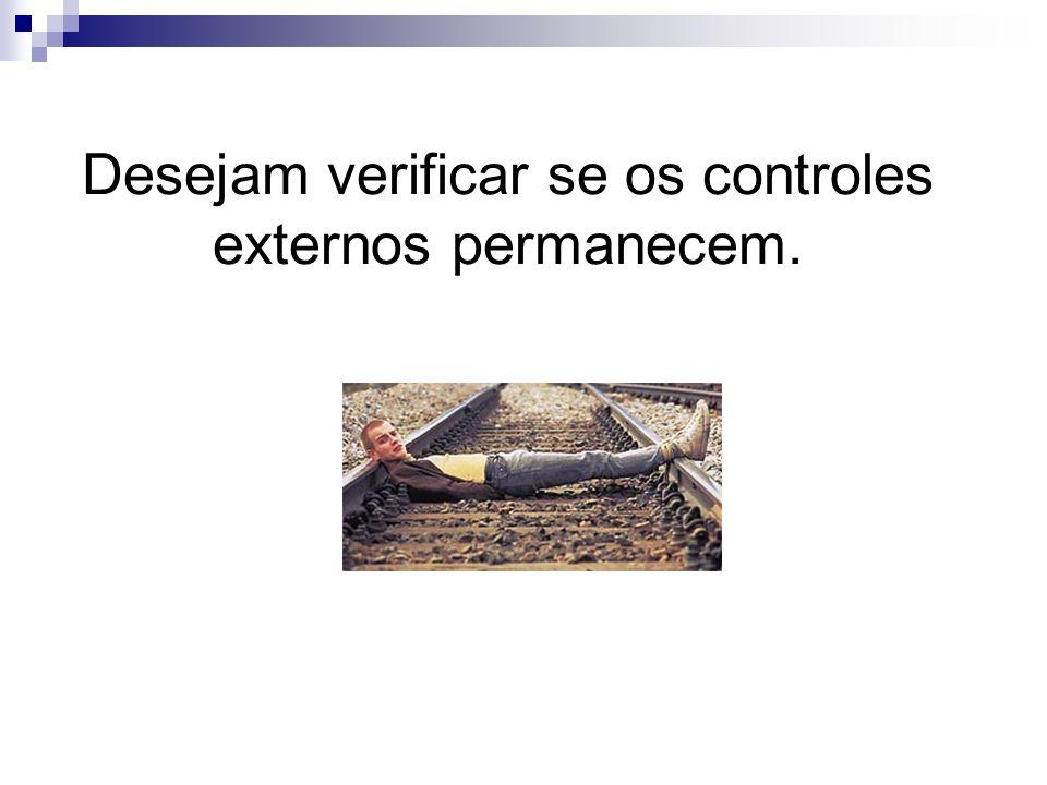 Desejam verificar se os controles externos permanecem.