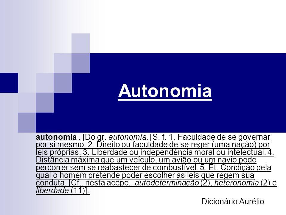 Autonomia Dicionário Aurélio