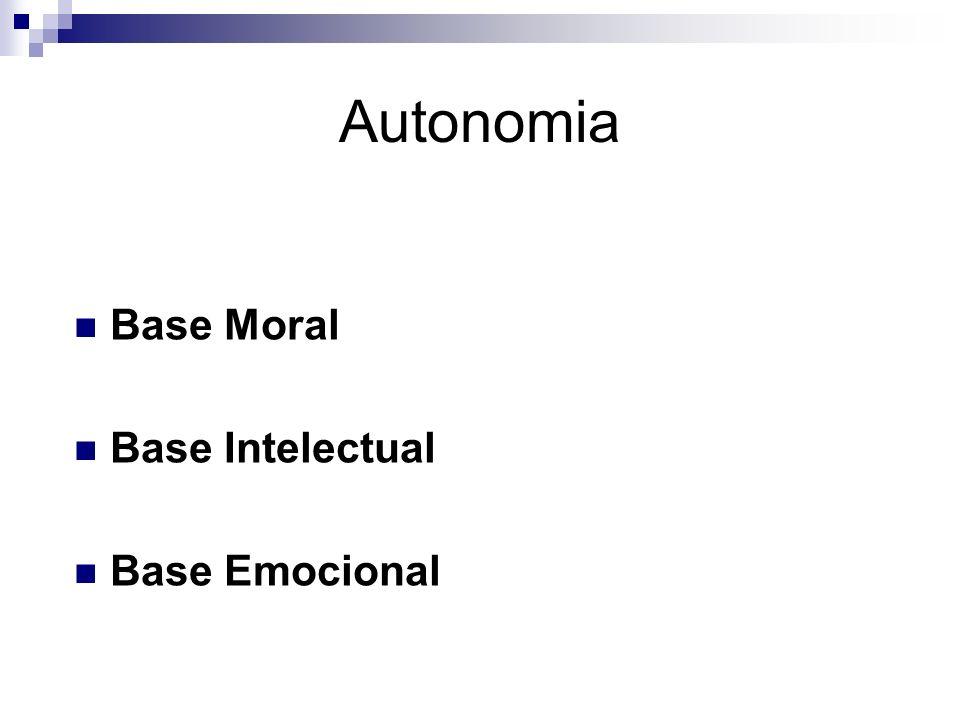 Autonomia Base Moral Base Intelectual Base Emocional