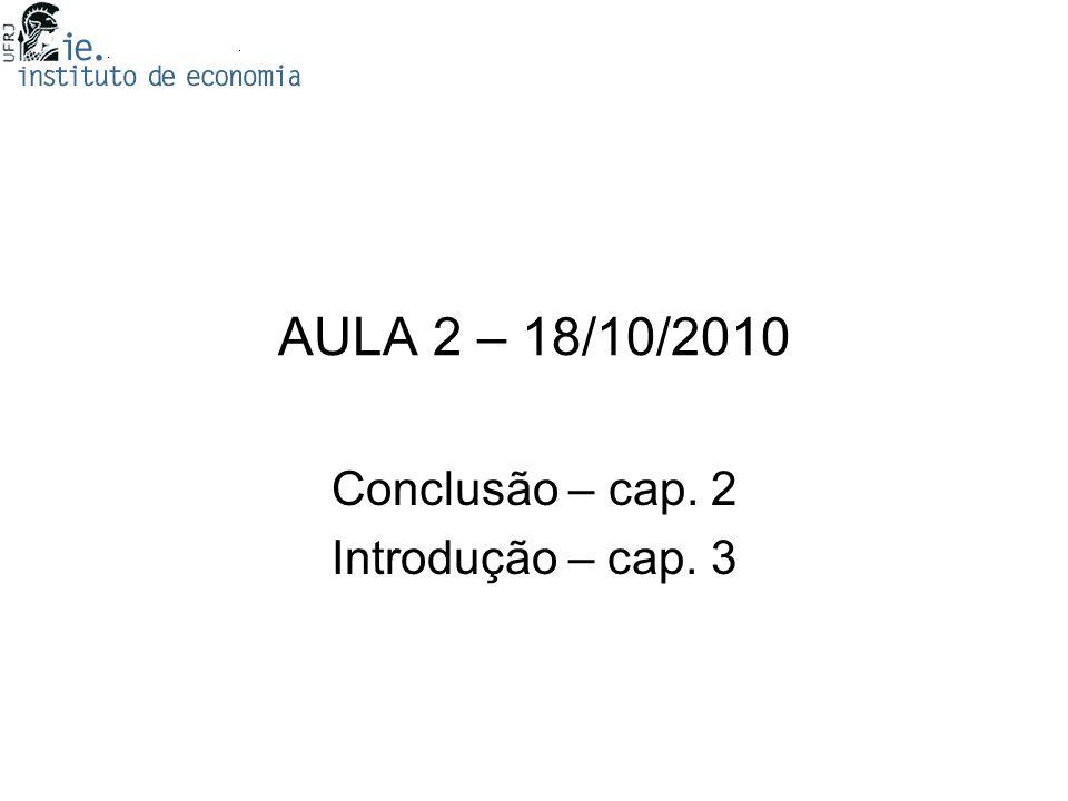 Conclusão – cap. 2 Introdução – cap. 3