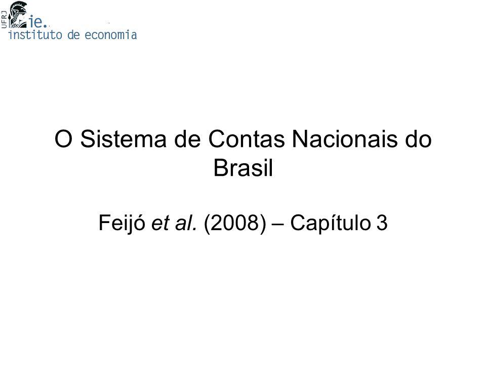 O Sistema de Contas Nacionais do Brasil