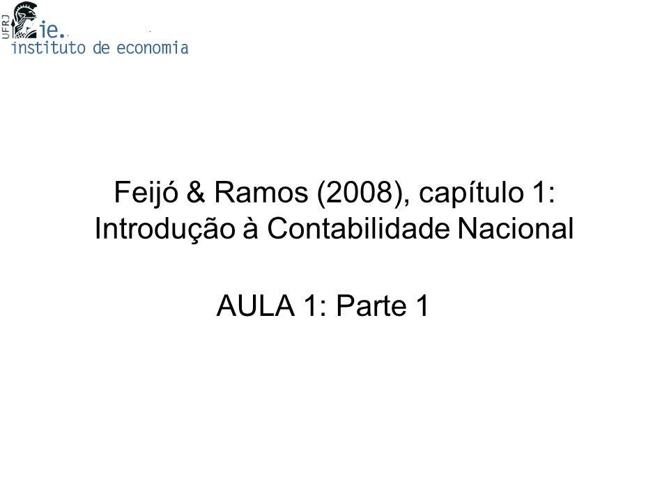 Feijó & Ramos (2008), capítulo 1: Introdução à Contabilidade Nacional