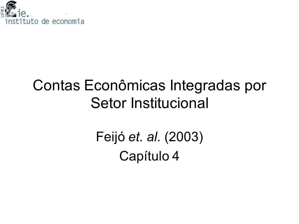 Contas Econômicas Integradas por Setor Institucional