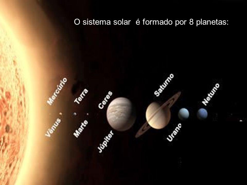 O sistema solar é composto por 8 planetas: