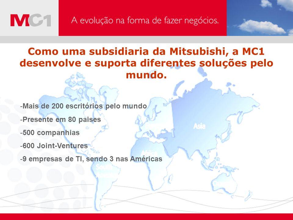 Como uma subsidiaria da Mitsubishi, a MC1 desenvolve e suporta diferentes soluções pelo mundo.