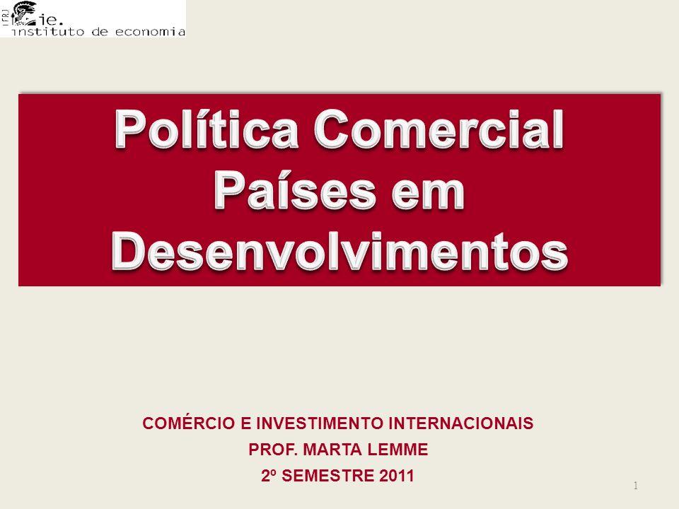 Política Comercial Países em Desenvolvimentos