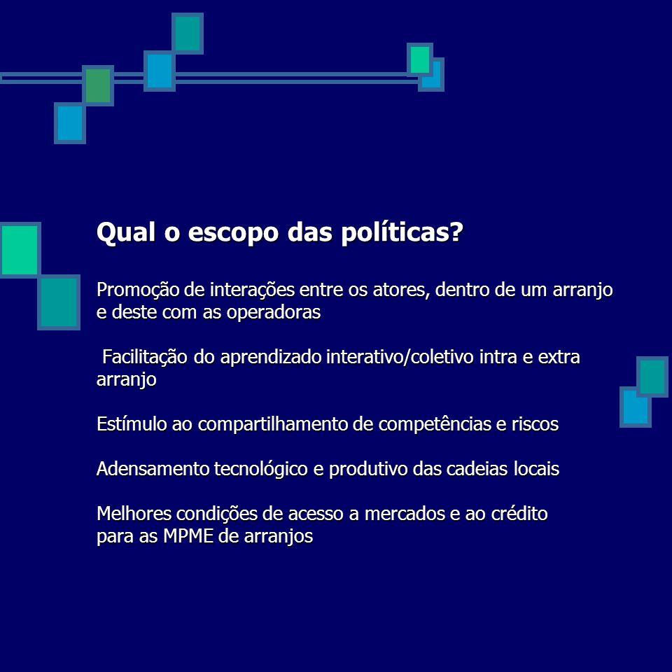 Qual o escopo das políticas