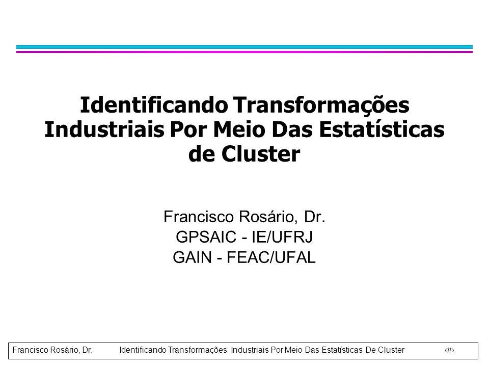 Francisco Rosário, Dr. GPSAIC - IE/UFRJ GAIN - FEAC/UFAL